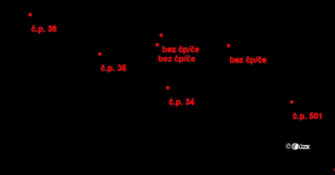 Liberec V-Kristiánov 34, Liberec na parcele st. 925/1 v KÚ Liberec, Katastrální mapa