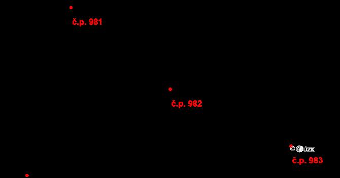 Stonava 982 na parcele st. 2892 v KÚ Stonava, Katastrální mapa