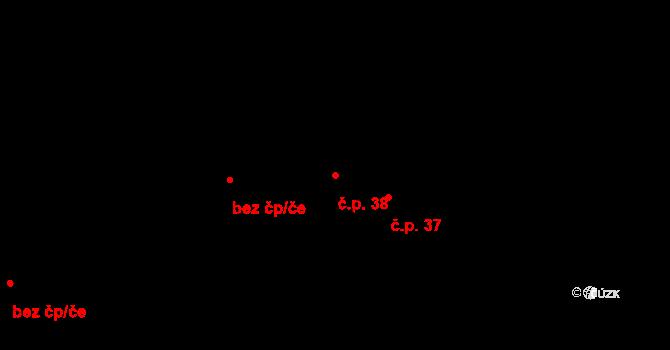 Balkova Lhota 38 na parcele st. 46 v KÚ Balkova Lhota, Katastrální mapa