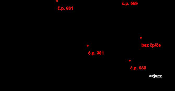 Skřečoň 381, Bohumín na parcele st. 1311 v KÚ Skřečoň, Katastrální mapa