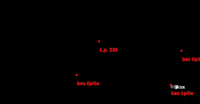 Janov 239 na parcele st. 303 v KÚ Janov u Krnova, Katastrální mapa