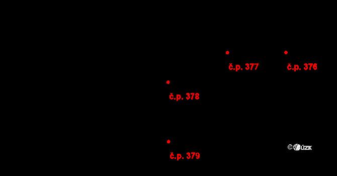 Písnice 378, Praha na parcele st. 910/28 v KÚ Písnice, Katastrální mapa