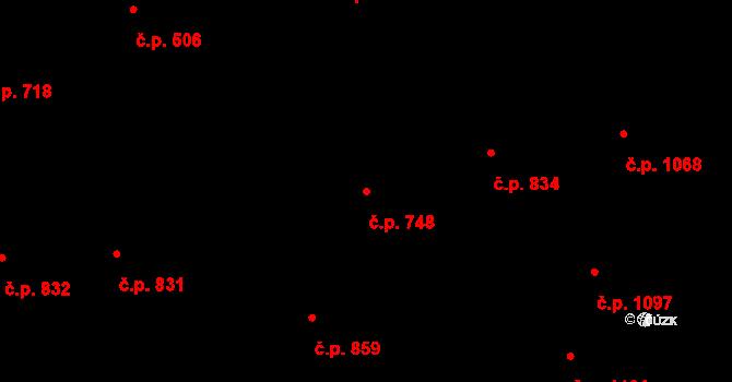 Žižkov 748, Praha na parcele st. 1139 v KÚ Žižkov, Katastrální mapa