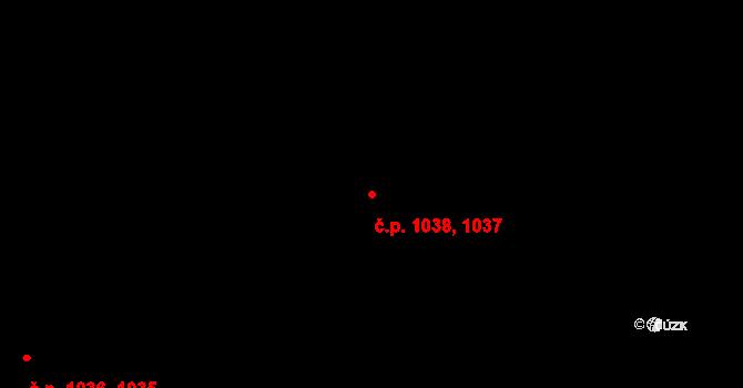Košíře 1037, Praha na parcele st. 1837/2 v KÚ Košíře, Katastrální mapa