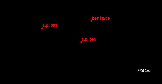 Dolní Lutyně 555 na parcele st. 3691 v KÚ Dolní Lutyně, Katastrální mapa