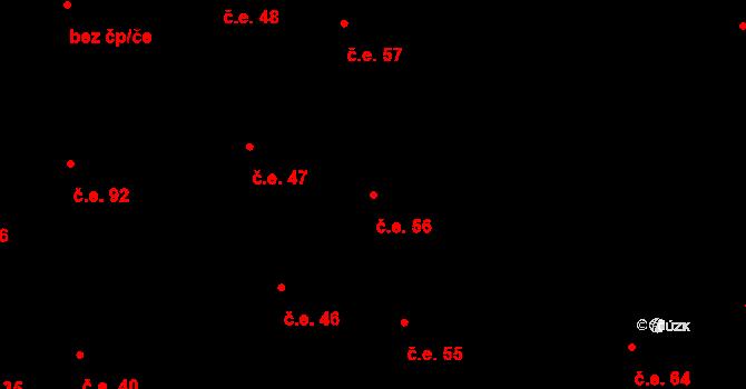 Prštné 56, Zlín na parcele st. 847 v KÚ Prštné, Katastrální mapa
