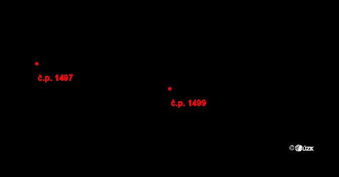 Řečkovice 1499, Brno na parcele st. 2069/4 v KÚ Řečkovice, Katastrální mapa