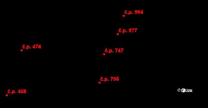 Nivnice 747 na parcele st. 2037 v KÚ Nivnice, Katastrální mapa