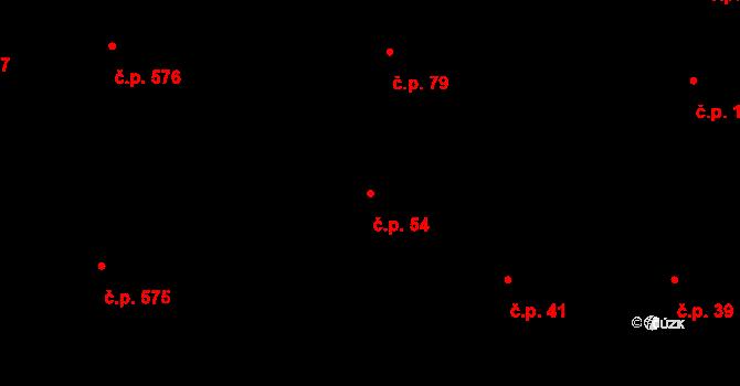 Malá Strana 54, Praha na parcele st. 862 v KÚ Malá Strana, Katastrální mapa