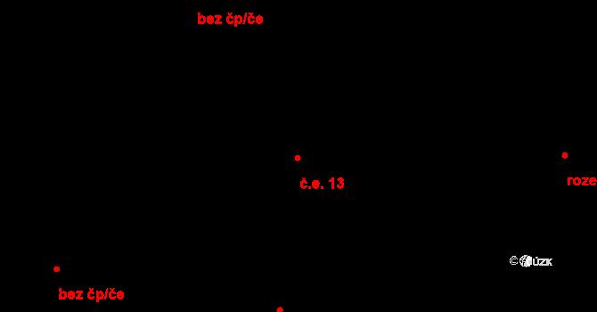 České Budějovice 2 13, České Budějovice na parcele st. 1956/4 v KÚ České Budějovice 2, Katastrální mapa
