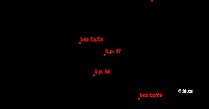 Stehelčeves 47 na parcele st. 226 v KÚ Stehelčeves, Katastrální mapa