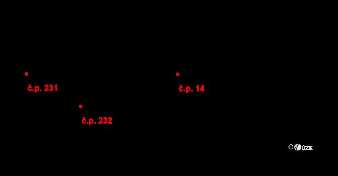 Vysočany 14, Praha na parcele st. 9/7 v KÚ Vysočany, Katastrální mapa