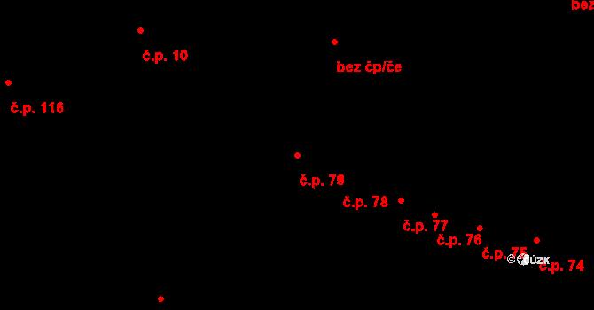 Nedvězí 79, Olomouc na parcele st. 88/1 v KÚ Nedvězí u Olomouce, Katastrální mapa