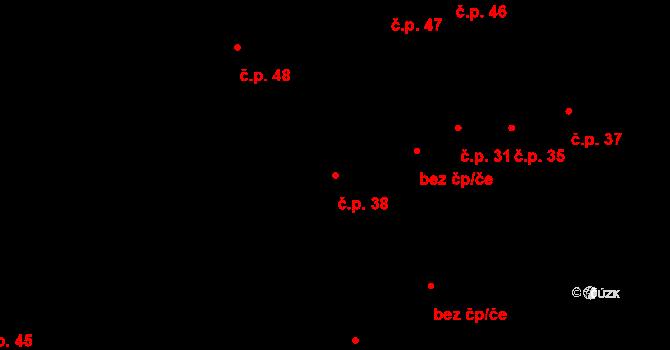 Lhota nad Moravou 38, Náklo na parcele st. 29/2 v KÚ Lhota nad Moravou, Katastrální mapa