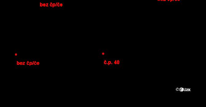 Horní Paseka 40 na parcele st. 260 v KÚ Horní Paseka, Katastrální mapa