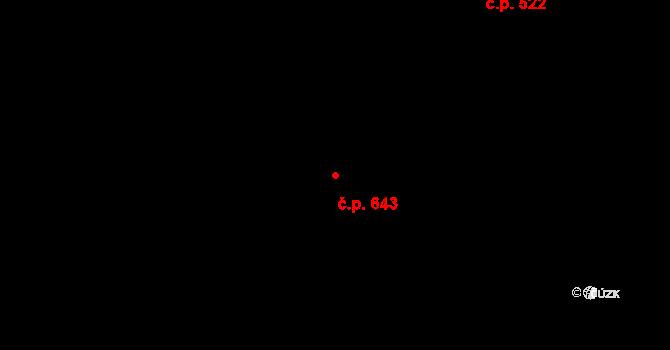 Mladcová 643, Zlín na parcele st. 1109 v KÚ Mladcová, Katastrální mapa