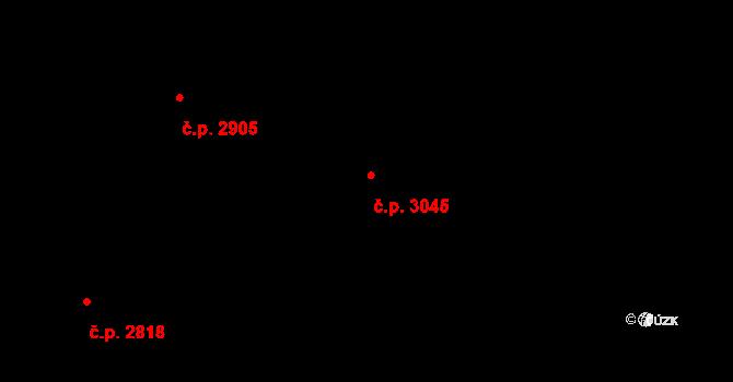 Horní Počernice 3045, Praha, Katastrální mapa