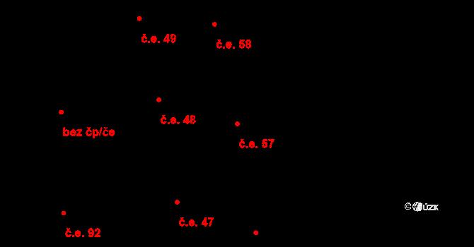 Prštné 57, Zlín na parcele st. 846 v KÚ Prštné, Katastrální mapa