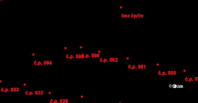 Velké Pavlovice 582 na parcele st. 1129 v KÚ Velké Pavlovice, Katastrální mapa