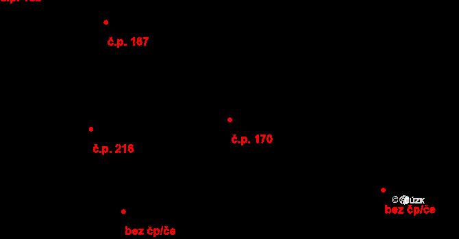 Zásada 170 na parcele st. 237 v KÚ Zásada, Katastrální mapa