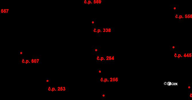 Vinohrady 254, Praha na parcele st. 910 v KÚ Vinohrady, Katastrální mapa