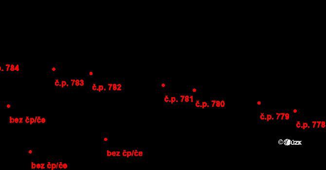 Ivančice 781 na parcele st. 819 v KÚ Ivančice, Katastrální mapa