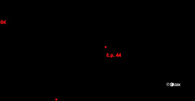 Vír 44 na parcele st. 54 v KÚ Vír, Katastrální mapa