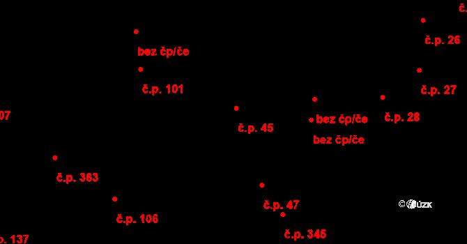 Bečov nad Teplou 45 na parcele st. 139 v KÚ Bečov nad Teplou, Katastrální mapa