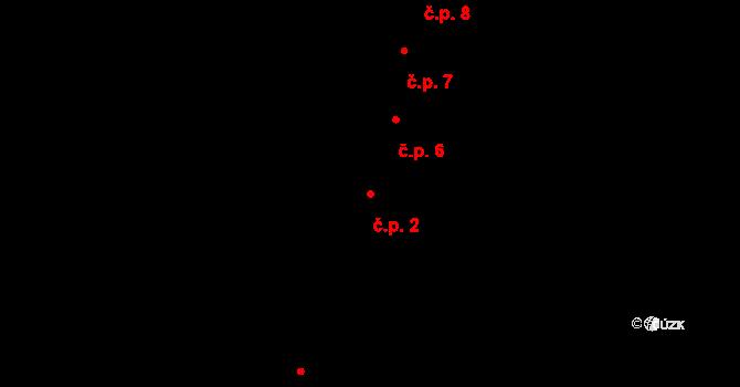České Budějovice 1 2, České Budějovice na parcele st. 2 v KÚ České Budějovice 1, Katastrální mapa