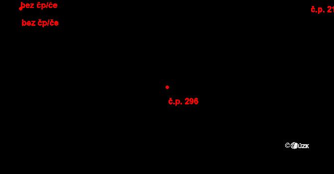 Liberec XXXIII-Machnín 296, Liberec na parcele st. 629 v KÚ Machnín, Katastrální mapa