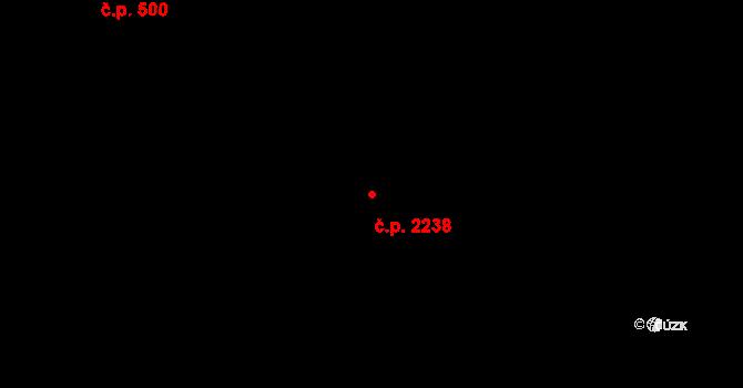 České Budějovice 3 2238, České Budějovice na parcele st. 1532/2 v KÚ České Budějovice 3, Katastrální mapa