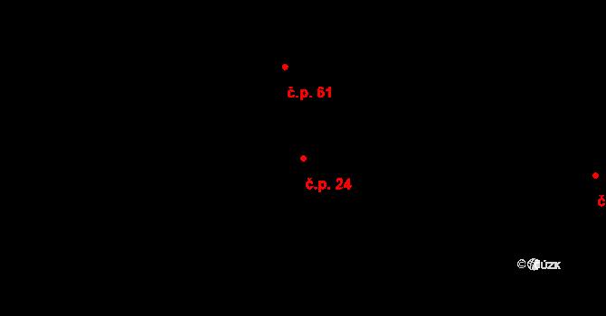 Koruna 24 na parcele st. 247/1 v KÚ Koruna, Katastrální mapa