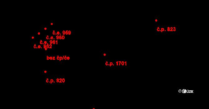 Český Těšín 1701 na parcele st. 1781/10 v KÚ Český Těšín, Katastrální mapa