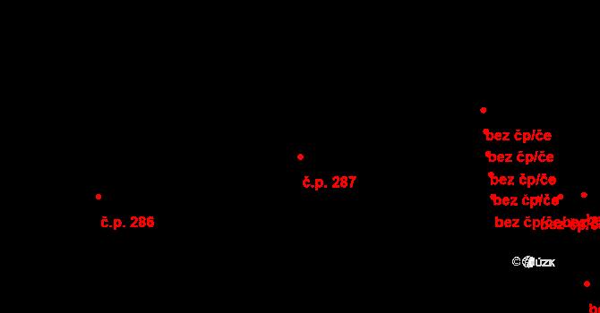 Loučovice 287 na parcele st. 693 v KÚ Loučovice, Katastrální mapa