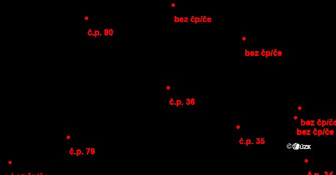 Liberec V-Kristiánov 36, Liberec na parcele st. 918 v KÚ Liberec, Katastrální mapa