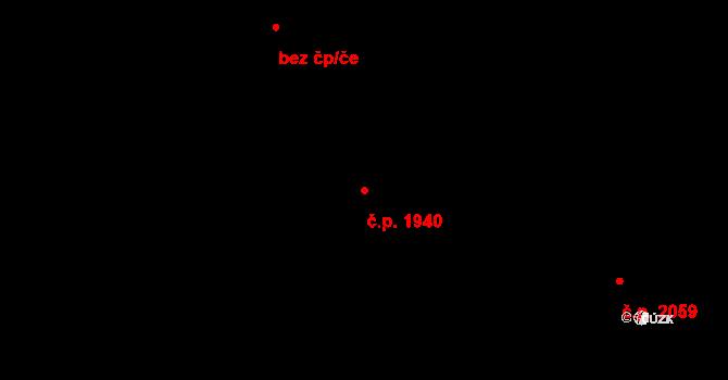 Rychvald 1940 na parcele st. 2020/10 v KÚ Rychvald, Katastrální mapa
