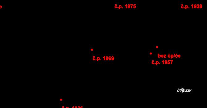 Trnovany 1969, Teplice na parcele st. 1104/77 v KÚ Teplice-Trnovany, Katastrální mapa