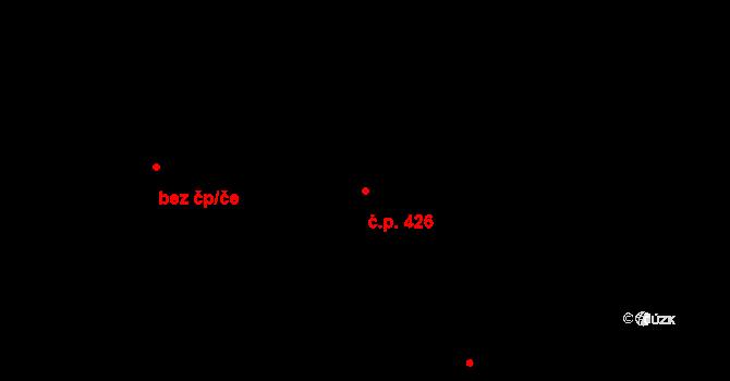 Hradiště 426, Plzeň na parcele st. 38/19 v KÚ Hradiště u Plzně, Katastrální mapa