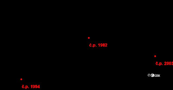 Trnovany 1982, Teplice na parcele st. 1104/73 v KÚ Teplice-Trnovany, Katastrální mapa
