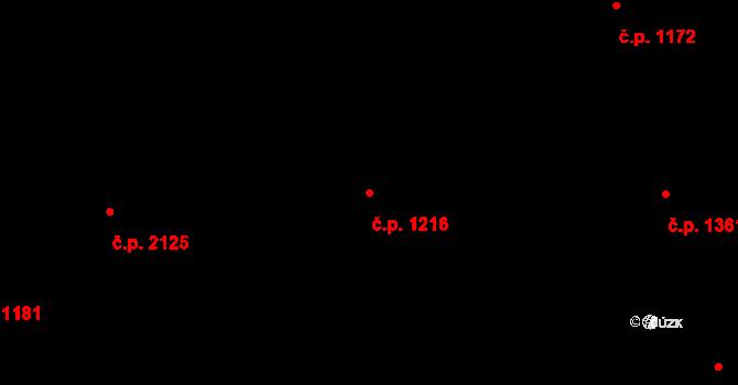 Nové Město 1216, Praha na parcele st. 281 v KÚ Nové Město, Katastrální mapa
