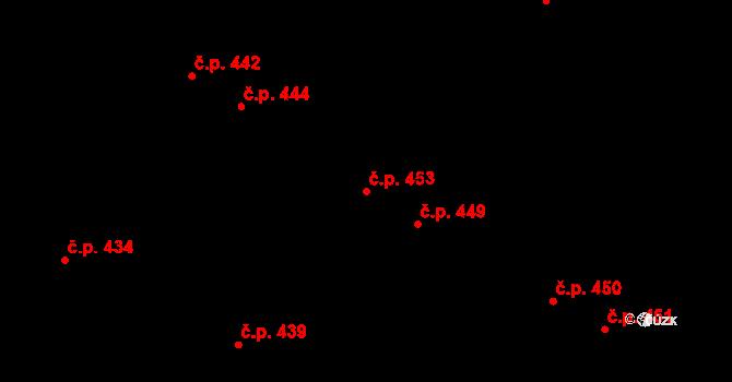 Černá Hora 453 na parcele st. 329 v KÚ Černá Hora, Katastrální mapa