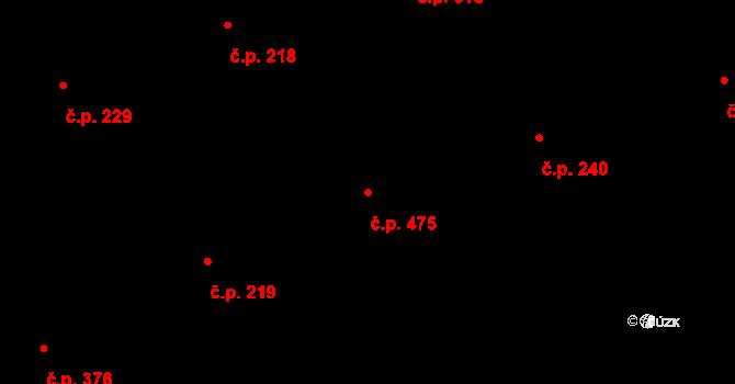 Lhota 475, Plzeň na parcele st. 542/323 v KÚ Lhota u Dobřan, Katastrální mapa