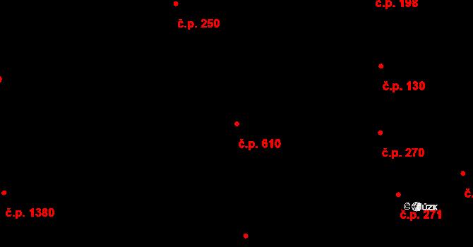 Vinohrady 610, Praha na parcele st. 196 v KÚ Vinohrady, Katastrální mapa