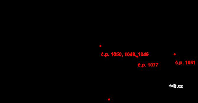 Krč 1048,1049,1050, Praha na parcele st. 1255/9 v KÚ Krč, Katastrální mapa