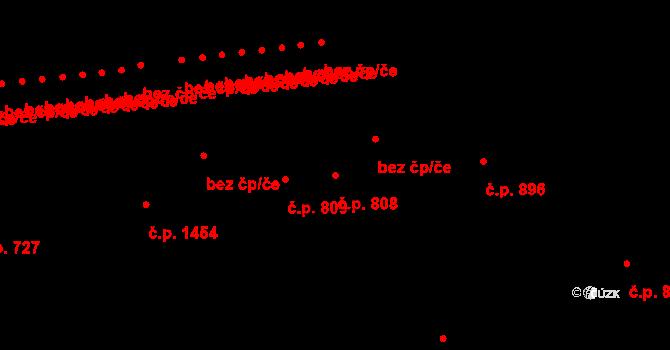 Braník 808, Praha na parcele st. 1178 v KÚ Braník, Katastrální mapa