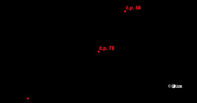 Lázně Kundratice 75, Osečná na parcele st. 30 v KÚ Lázně Kundratice, Katastrální mapa