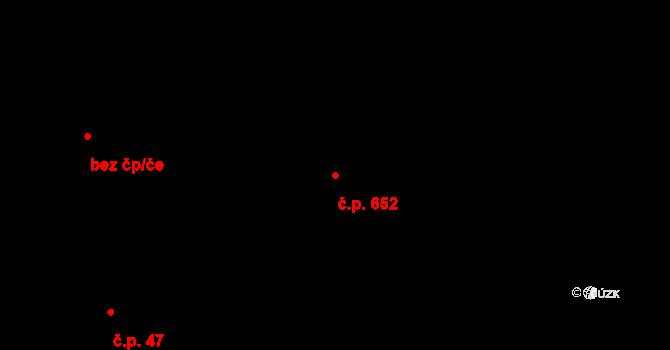 Vendryně 652 na parcele st. 2255 v KÚ Vendryně, Katastrální mapa
