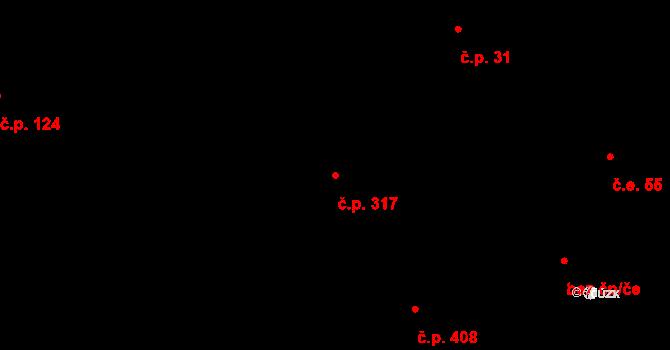 Březno 317 na parcele st. 483/7 v KÚ Březno u Chomutova, Katastrální mapa