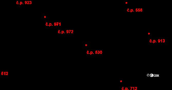 Liberec XIV-Ruprechtice 530, Liberec na parcele st. 420 v KÚ Ruprechtice, Katastrální mapa