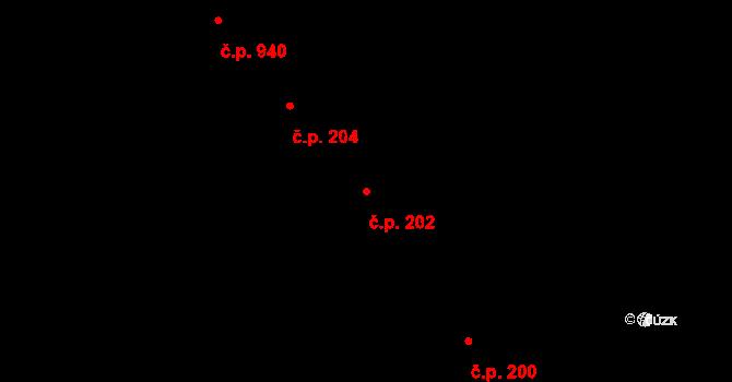 Veveří 202, Brno na parcele st. 436 v KÚ Veveří, Katastrální mapa